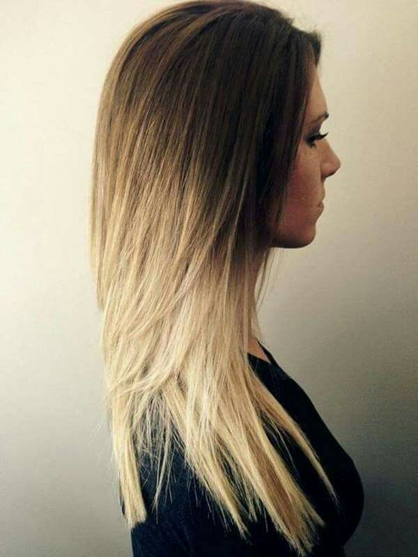Brown Top Blonde Bottom Haircuts For Long Hair Ombre Hair Blonde Long Thin Hair