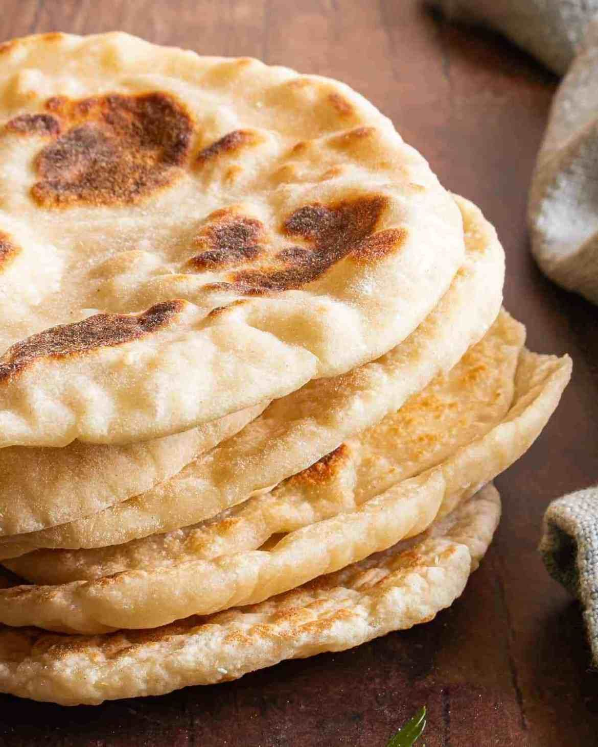 Quick and Easy Naan Bread Without Yeast   Recipe in 2020 ...