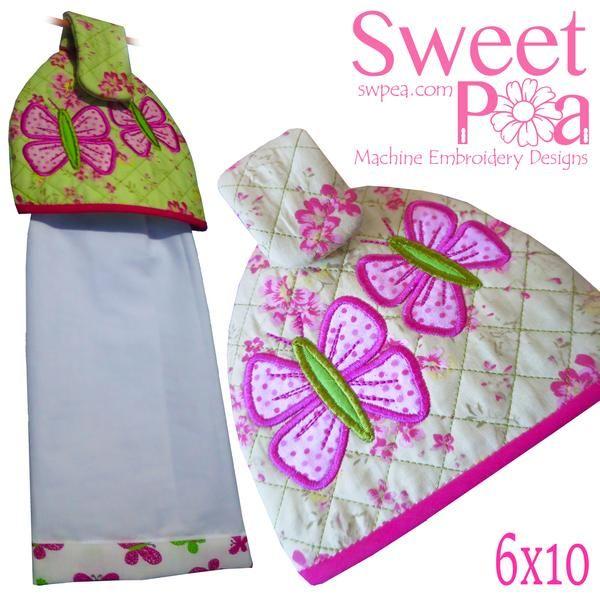 Butterfly Tea Towel Topper 6x10