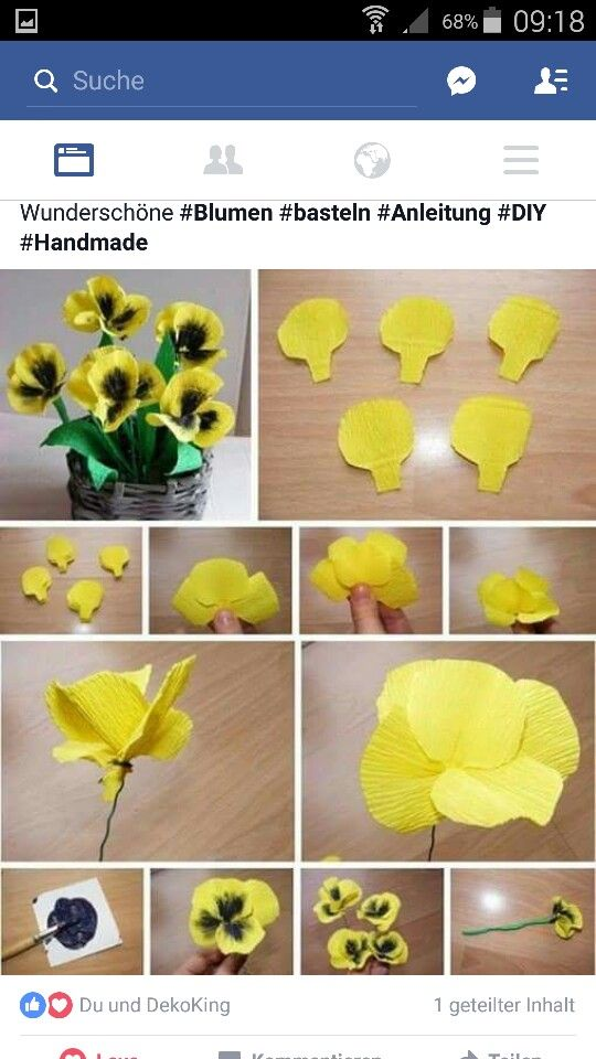 Stiefmutterchen Blumen Selber Basteln Blumen Basteln Papierblumenhandwerk