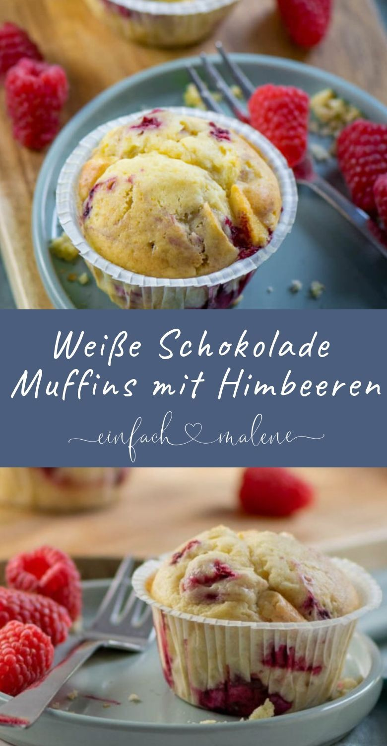 Photo of White chocolate muffins with raspberries. And best of all: the muffins with white …