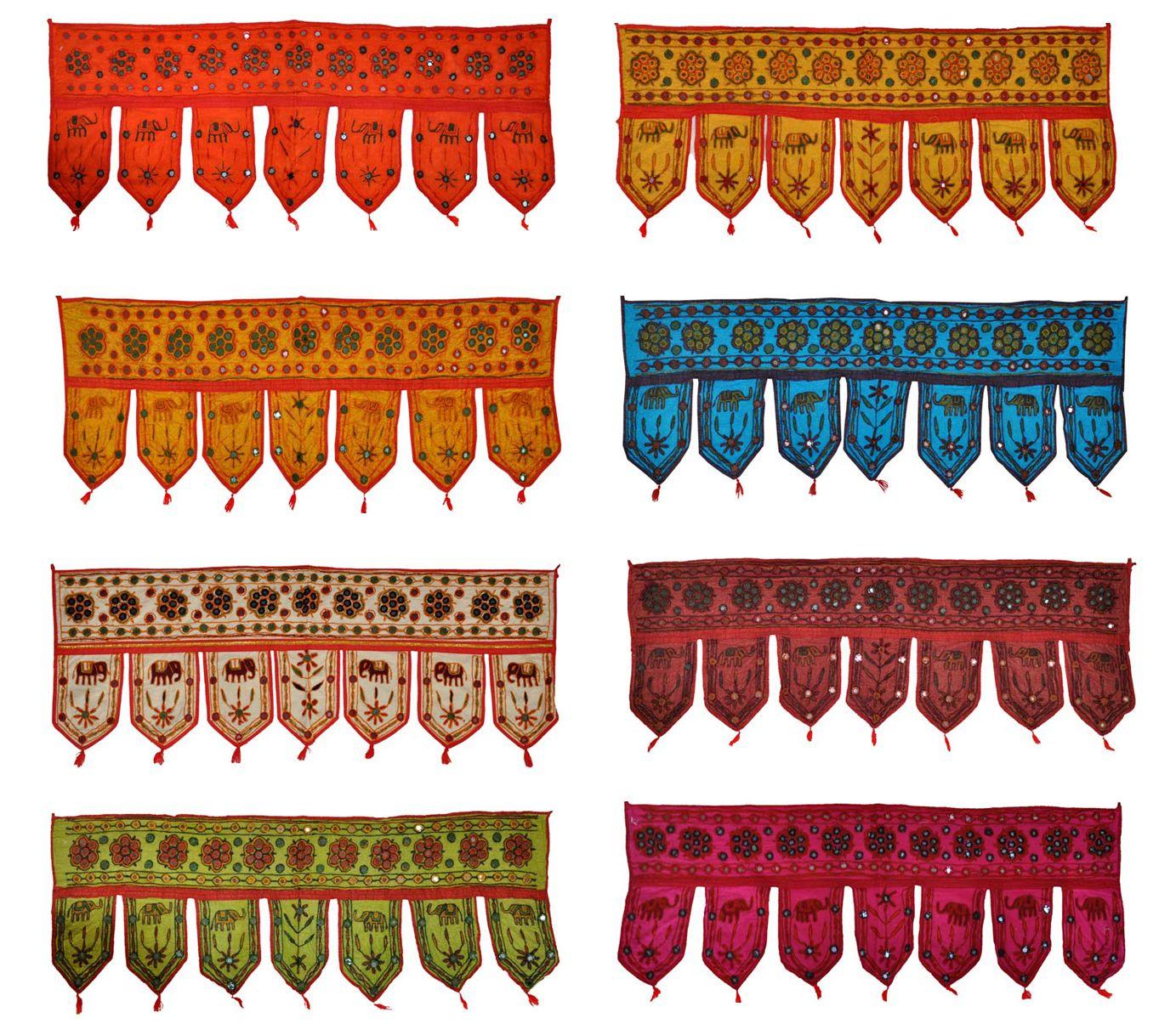 Indian Cotton Door Hanging Embroidered Toran Window Valance 10 Pcs Lot Bds Ehs Indian Doors Elephant Decor Handmade Mirrors
