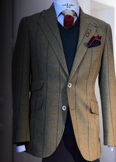 "In a windowpane pattern different intensities sometimes can be seen"",That is a nice design for a jacket / A veces un estampado cuadro ventana puede tener distintas intensidades"",ese es un bonito diseño"