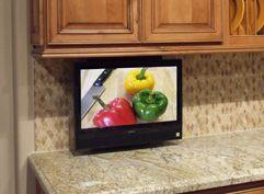 Subcompact Drop Down Tv Lift Nexus 21 Tv Lifts Small Kitchen Tv Tv In Kitchen Kitchen