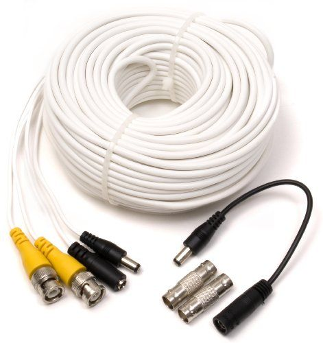 Q See Qs100b Video And Power 100 Foot Bnc Male Cable With 2 Female Connectors Bnc Connector Power Cable Photo Cables