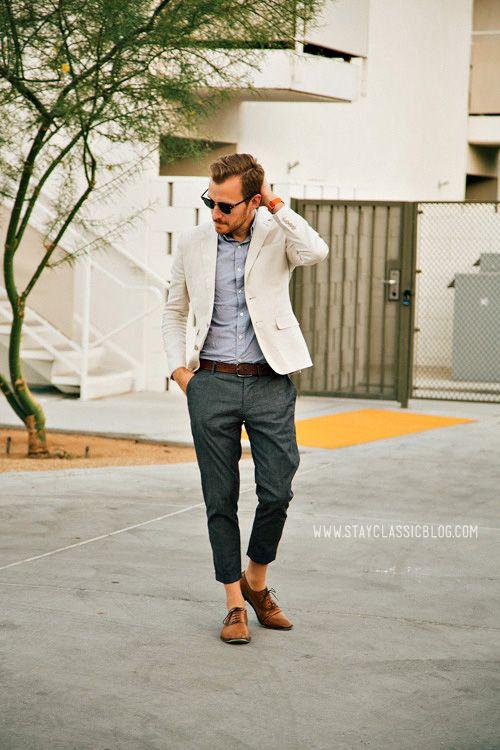 Blazer: Linen - H - $69 (similar) Shirt: Short Sleeve Striped - J ...