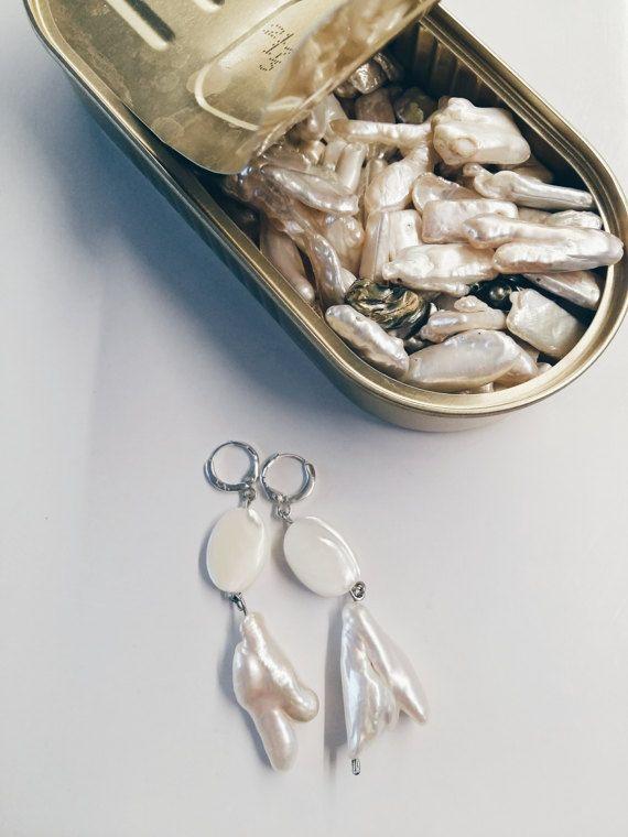 Ohrringe mit Perlen von RitaTsyJewellery auf Etsy | Keramik Ohrringe ...