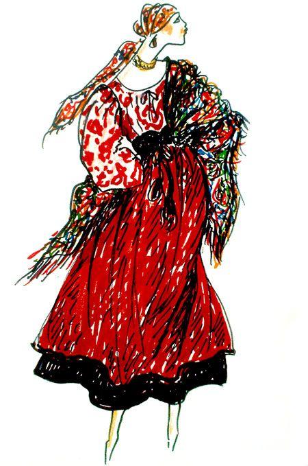 Tag Costume Populaire Russe Buzz De Luxe Illustration De Mode La Mode Des Annees 70 Mode