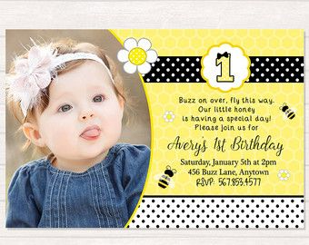 Bee birthday party printed bee party invitation honey bee bumble bee birthday party invitation honey bee by mystylishparty filmwisefo