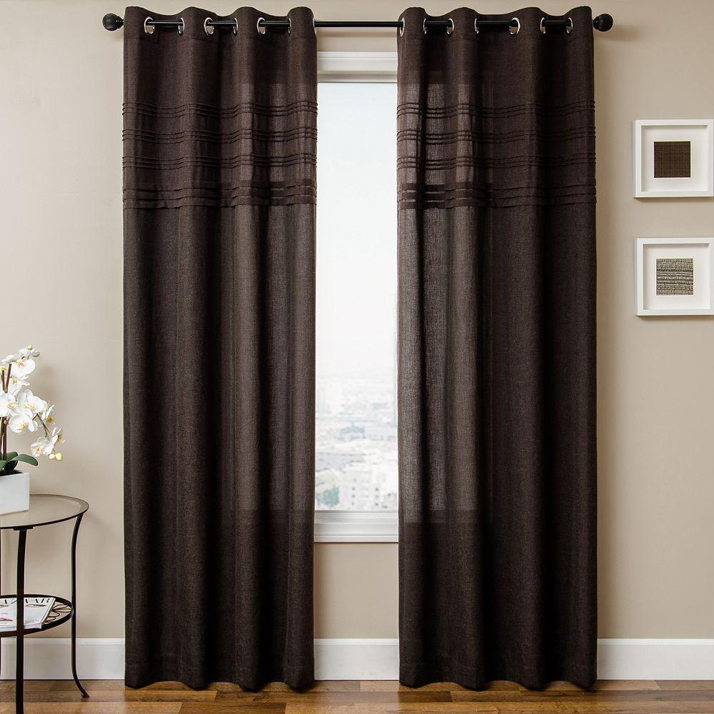 Softline 1 Panel Caruso Window Curtain Dark Brown Panel
