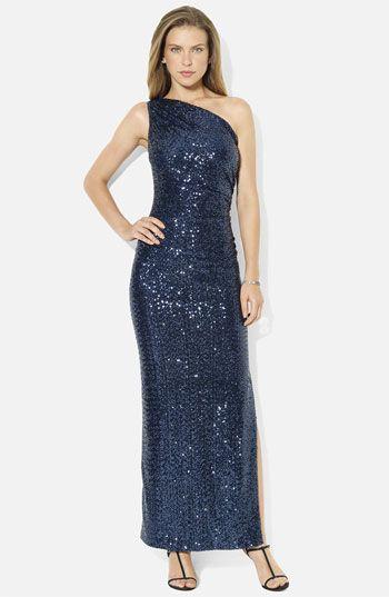 4d4cdb0816 another wrong color Lauren Ralph Lauren One Shoulder Sequin Column Gown  available at Nordstrom