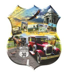 Lincoln Highway (1000 Piece Shaped Puzzle by SunsOut)