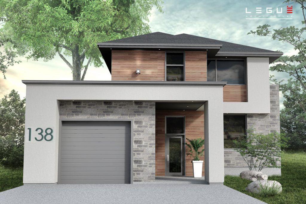 Plan de Maison Moderne Ë_138 Leguë Architecture maison