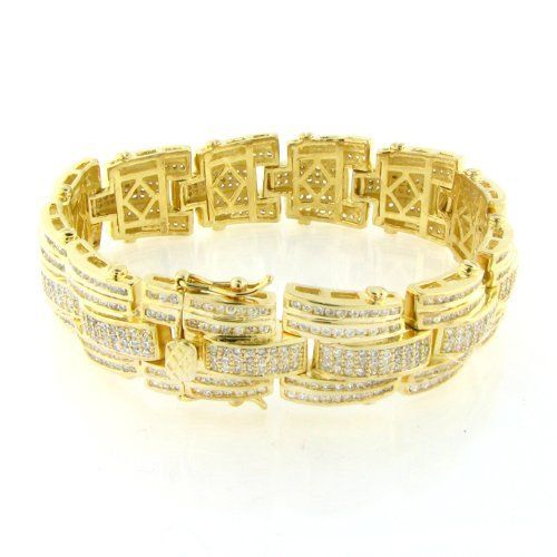 b31cfc1cdbbc2 Men's Iced Out Hip Hop 14K Gold Plated 19mm 9