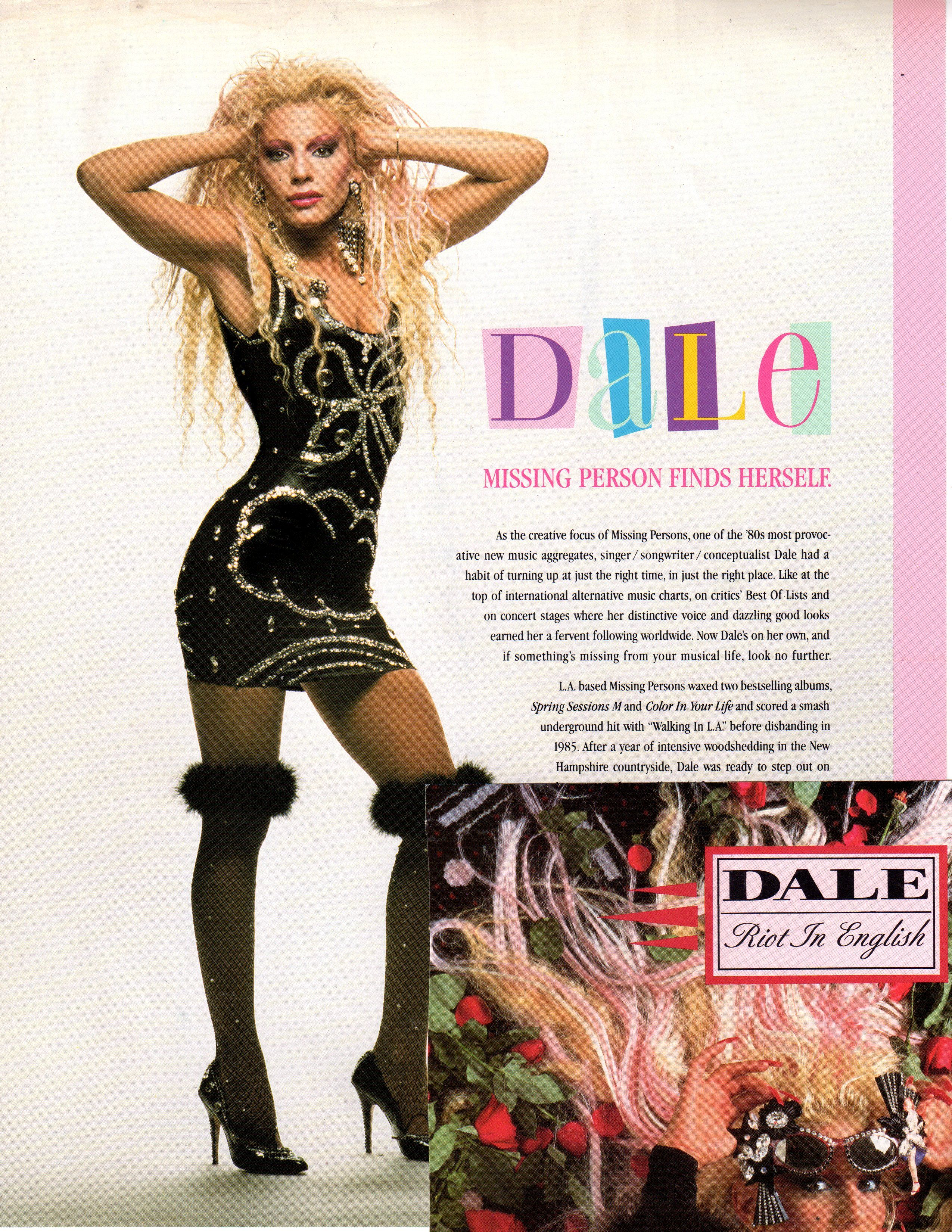 Article promoting Riot in English | Dale Bozzio | Missing