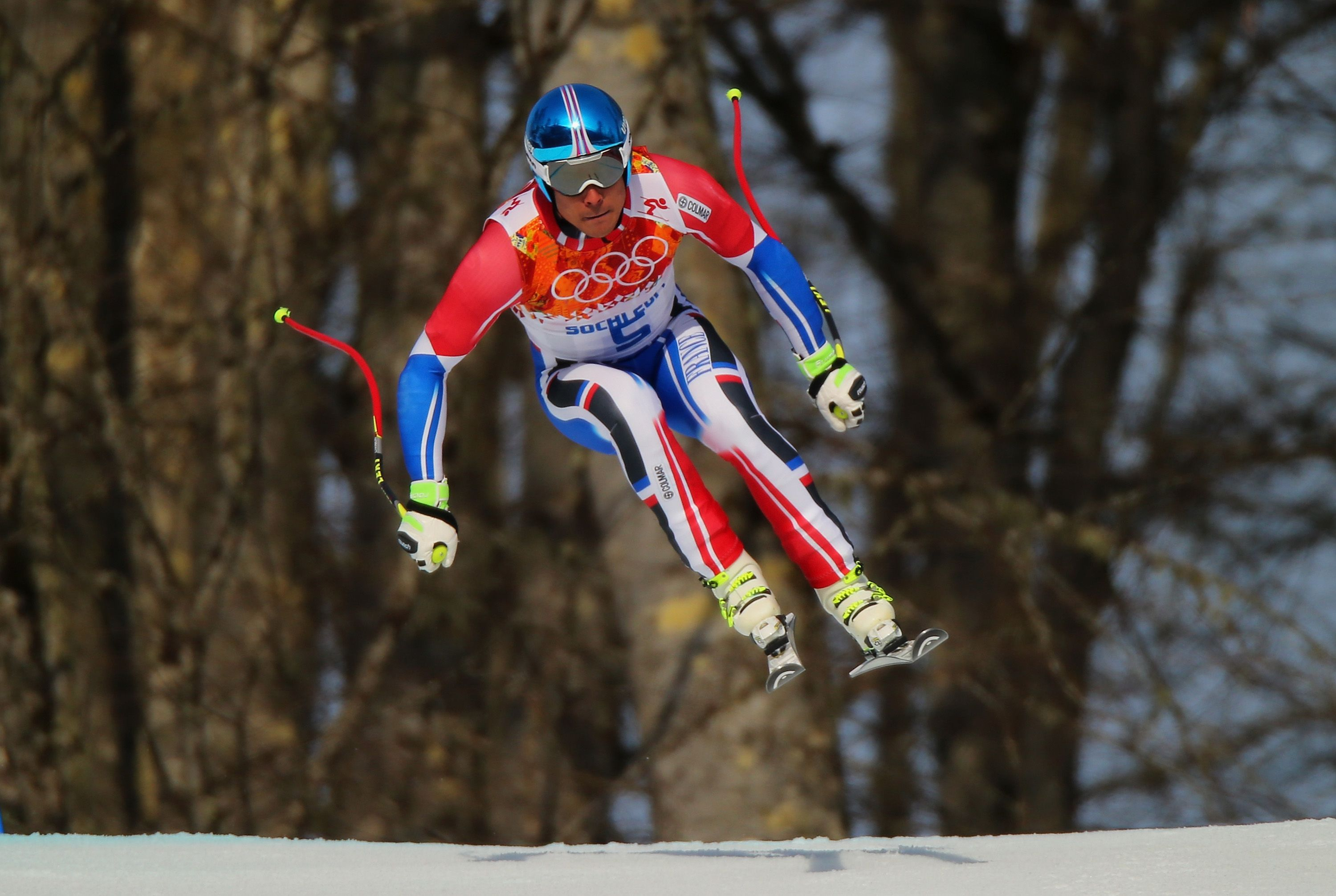 Johan Clarey Of France Skis During The Alpine Skiing Men S