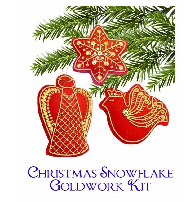 Goldwork Christmas Ornaments from Benton & Johnson via www.thetoyeshop.com
