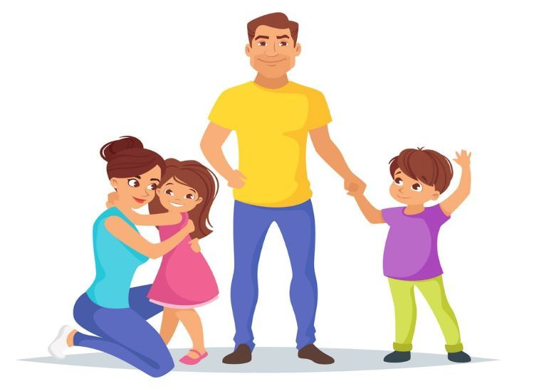 Difference Between Authoritative And Authoritarian Parenting Style Cartoon Styles Family Art Parenting Styles