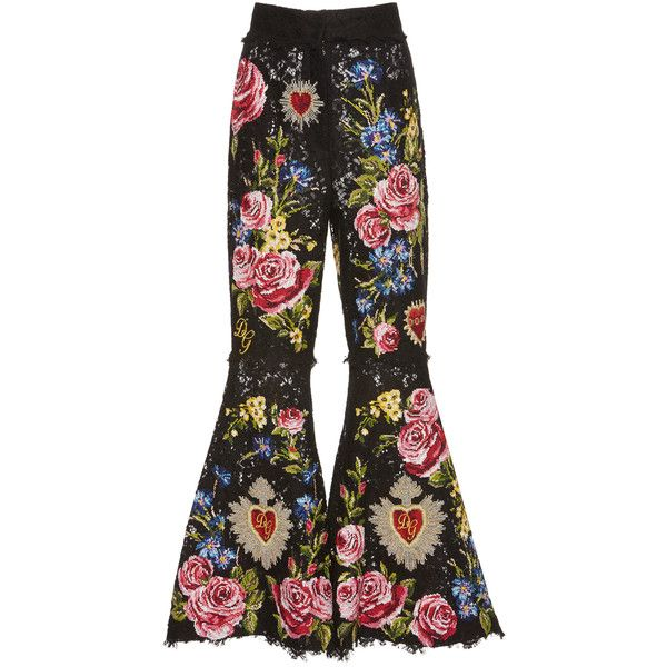 Dolce Gabbana Cropped Floral Patchwork Lace Pants 11 000