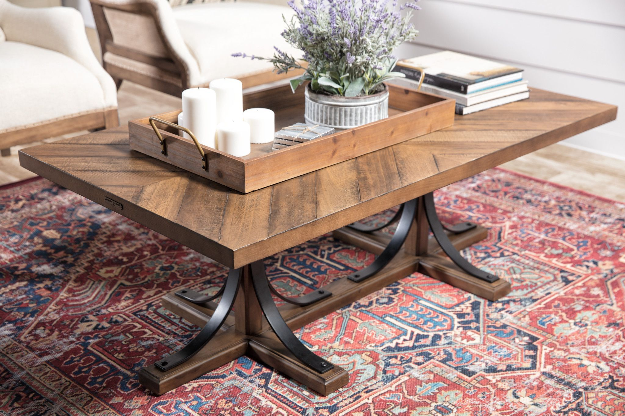 7 5 X9 5 Rug Magnolia Home Lucca Red Blue By Joanna Gaines Coffee Table Farmhouse Farmhouse Coffee Table Decor Magnolia Homes [ 1365 x 2048 Pixel ]