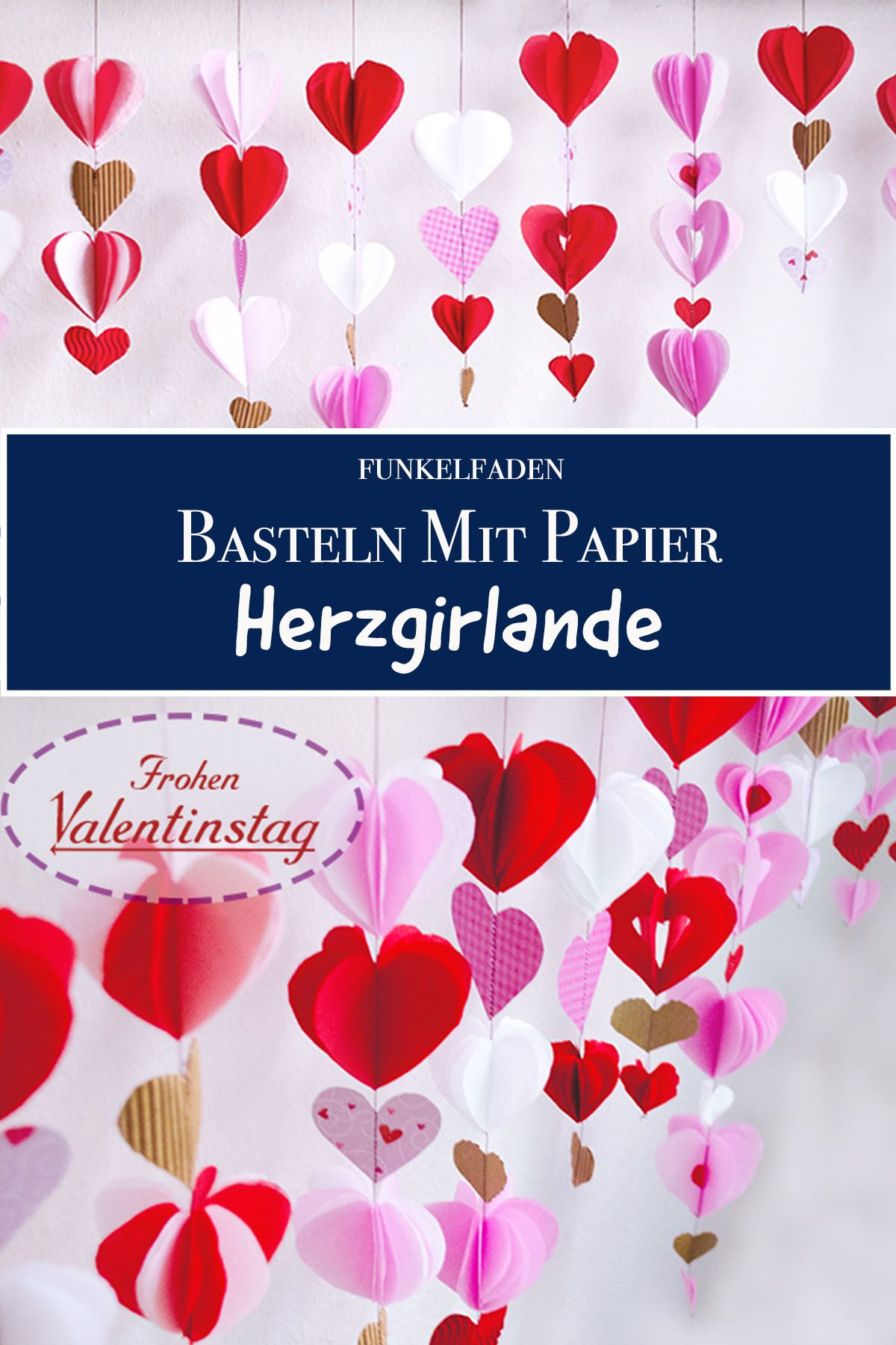 Anleitung Herzgirlande Basteln Nähen Zum Valentinstag