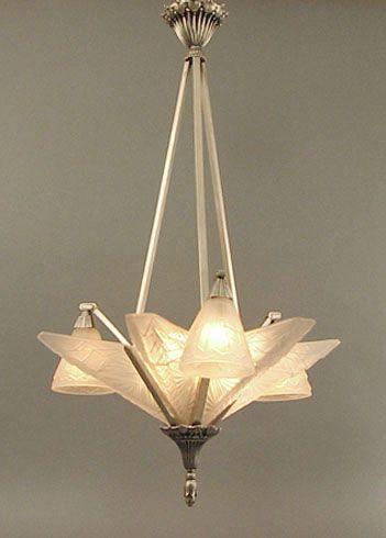 French Art Deco Chandelier   Illuminazione Stile Liberty ...