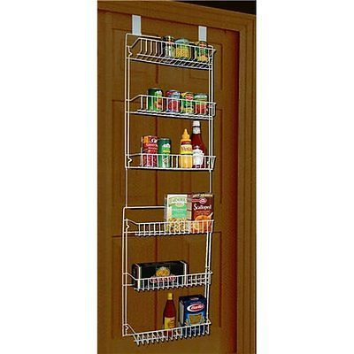 Over The Door Storage Rack Organizer Hanging Pantry Kitchen Holder Wall Mounted