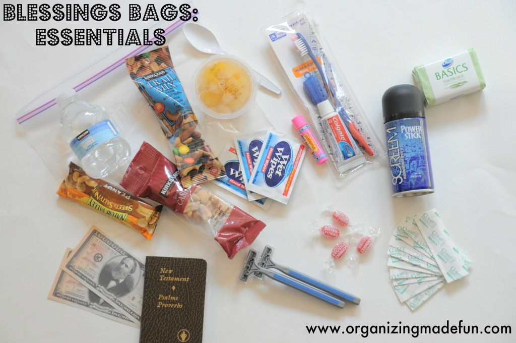 Organizing Made Fun Blessing Bags Fun Blessed