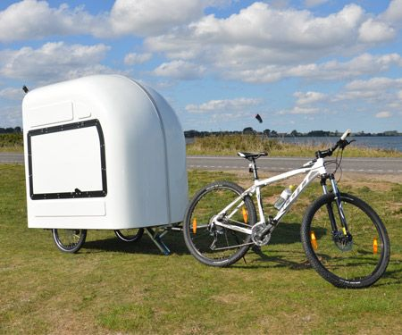The Wide Path Camper Can Be Easily Attached To Your Bicycle And