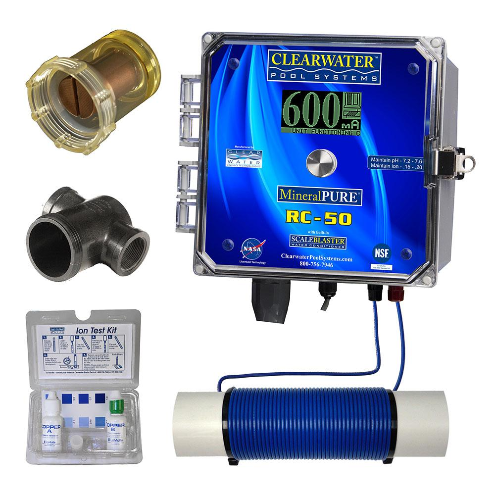 Mineral Pure 50 000 Gal Residential Swimming Pool Ionizer Rc 50 The Home Depot Swimming Pools Pool Supplies Ionizer