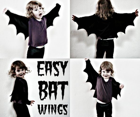 These Wings For BATMAN! Or Bat Boy. Or Just a Bat!   24 DIY Fairy, Dragon, And Butterfly Wings For Kids