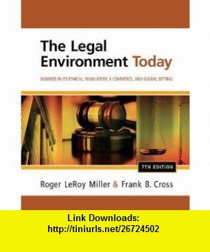 The legal environment today business in its ethical regulatory e books fandeluxe Images