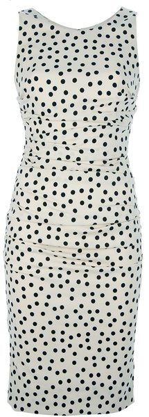 DOLCE & GABBANA   Fitted Polka Dot Dress - Lyst