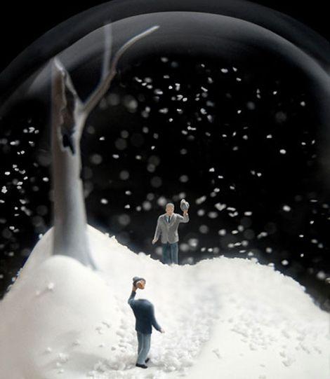 headless snow globe guy