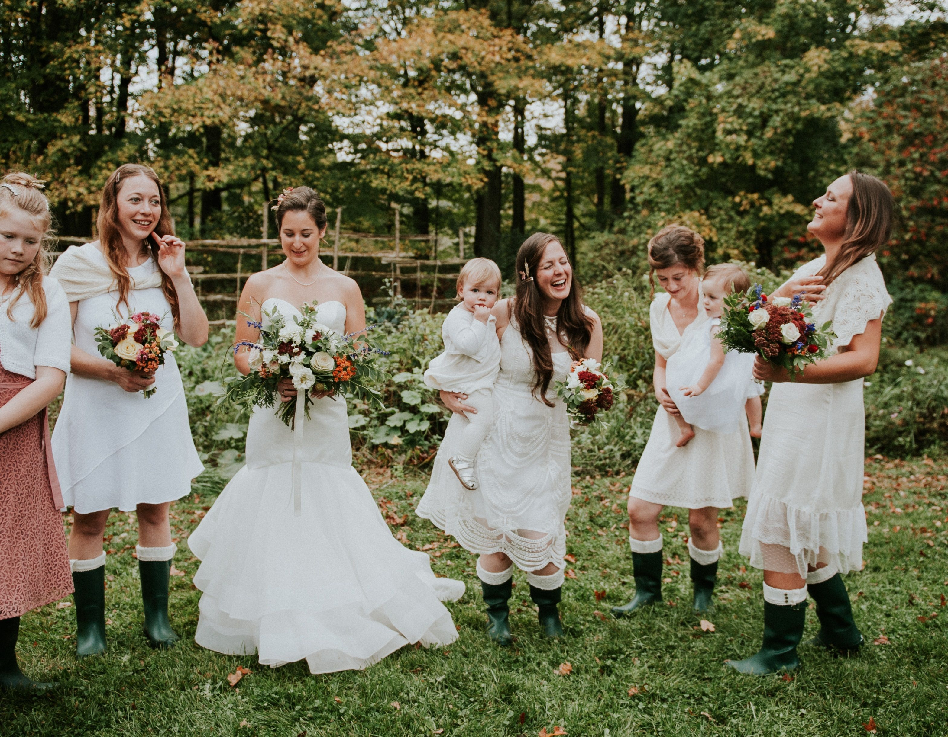 Rustic country wedding ivory bridesmaid dress ideas hunter welly rustic country wedding ivory bridesmaid dress ideas hunter welly forest green boots fall ombrellifo Images