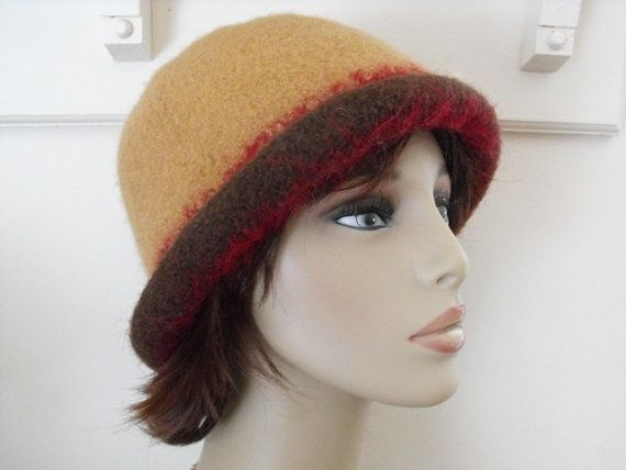 Hand Knit Felted Cloche Hat for Women and by maggiesraggedyinn, $35.00