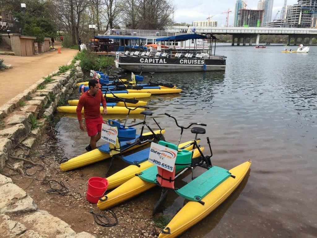 Austin Water Bikes Water Activity Town Lake Austin