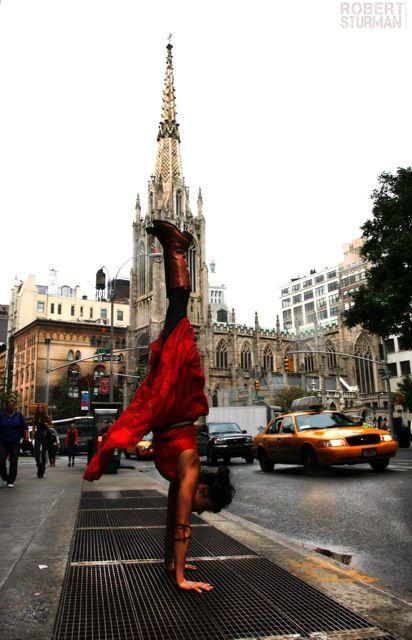 The Girl In The Red Dress, New York City. Robert Sturman