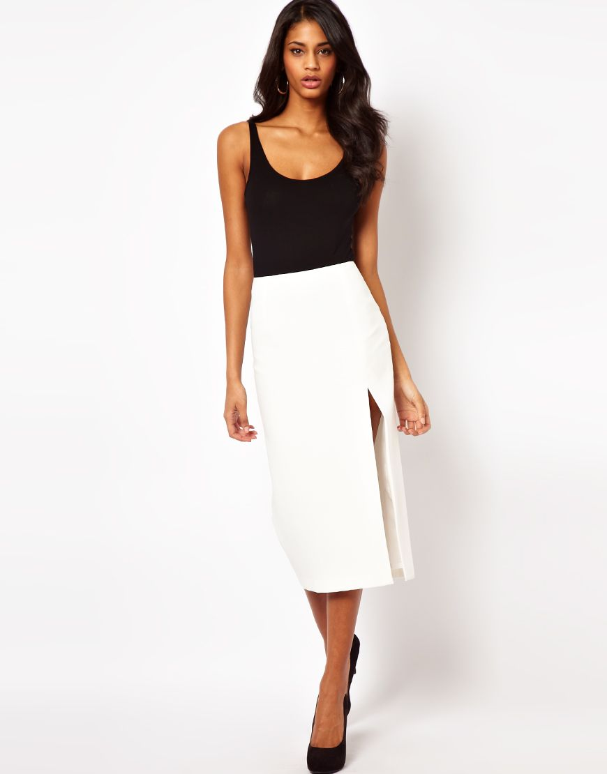 Pencil skirt with side slit via @asos.com #sexy!! | Fashion ...