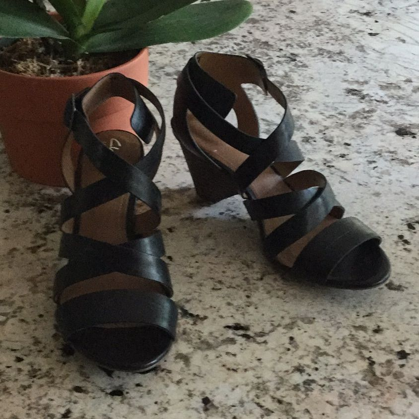 50-70%off beautiful style crazy price Clarks Shoes | New Clarks Mena Silk Sandal | Color: Black ...