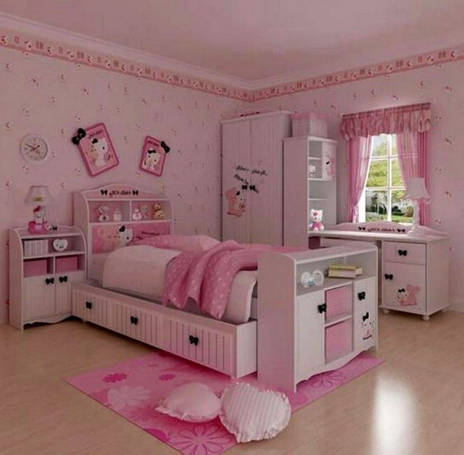 20 Hello Kitty Bedroom Decor Ideas To Make Your Bedroom More Cute New Hello Kitty Bedroom Designs 2018