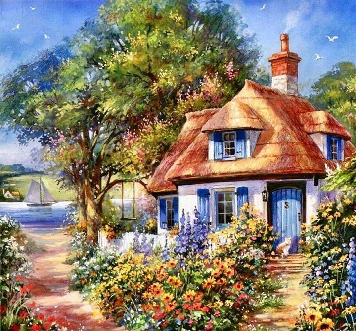 cottage | Charming Cottages ♡ | Pinterest | Paintings ... - photo#18