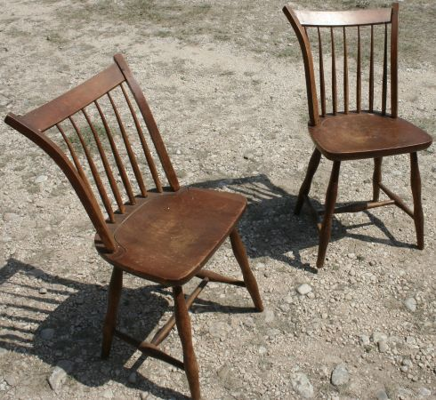 Pair Of Vintage Mid Century Stickley Chairs 99