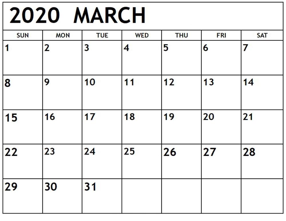 Blank March 2020 Calendar With Holidays Printable Calendar Template Calendar Printables Free Printable Calendar Templates September Calendar