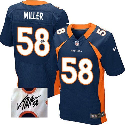 the best attitude e68ca 4ea28 Men's Nike Denver Broncos #58 Von Miller Navy Blue Alternate ...