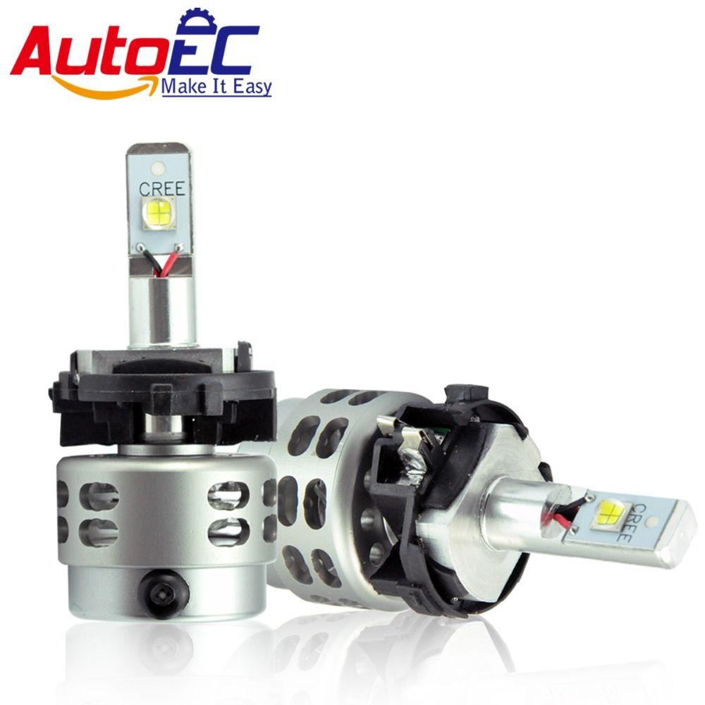 AutoEC Car LED Headlight Kit H7 H7LL 80w 5000lm high power LED Hi/Lo