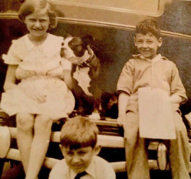 "1932 Ocean City NJ 2.5 x 4.5"" Children Dog Car 13th"