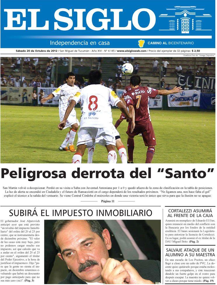 Diario El Siglo - Sábado 20 de Octubre de 20 12