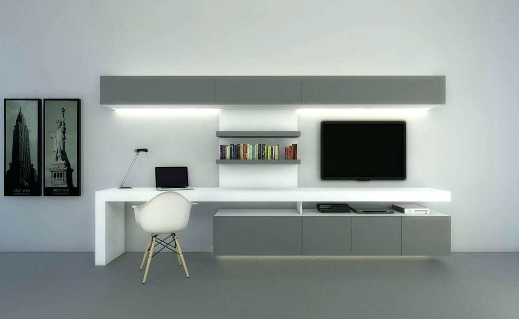 Computer Desk Tv Stand Combo Architecture Chic Inspiration