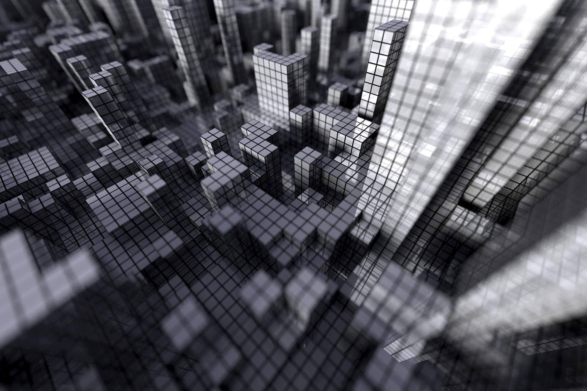 1920x1280 Wallpaper Cubes Gray Grid City Wallpaper Wallpaper Grid Wallpaper